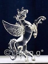 PEGASUS Figurine@CRYSTAL Glass@MYTHICAL BEAST@WINGED FANTASY Gift@HAND MADE ITEM