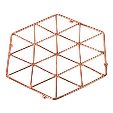 Copper Metal Wire Trivet Kitchen Worktop Surface Protector Hot Pan Kettle Stand