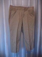 Amber Sun Aubrey Fit Women's Tan Capri/Cropped Pants 97% Cotton Sz 12 Pre-Owned