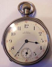 RARO reloj de bolsillo firmado A.W.Co WALTHAM en el marcar