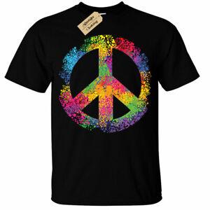 Rainbow Peace Sign T-Shirt Mens lgbtq+ pride gay bi lesbian rights love equality