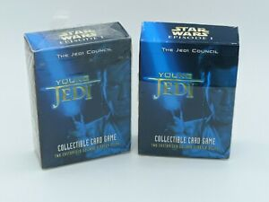Star Wars Young Jedi CCG Starter Deck Lot of 2 Decipher 1999 Jedi Council