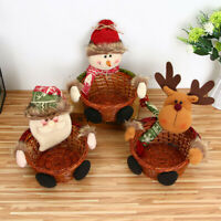 3X Merry Christmas Candy Storage Basket Decorations Santa Claus Storage Baskets