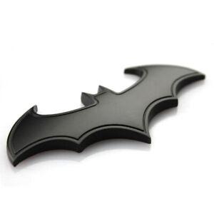 1Pc Black 3D Batman Logo Metal Car Motorcycle Sticker Badge Emblem Tail Decals