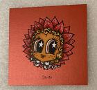 "Marq Spusta New Micro Star Eyed Flower Girl Red Shimmer 4x4"" Print SICK UV Ink!"