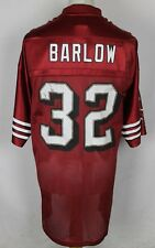 BARLOW #32 SAN FRANCISCO 49ERS AMERICAN FOOTBALL JERSEY MENS XL REEBOK