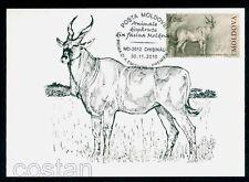 2010 Pontoceros/African antelope,Prehistoric/extincted animal,Moldova,Maxi card