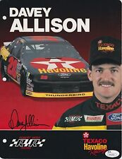 DAVEY ALLISON Signed Autographed 8.5x11 Hero Card, Photo, Postcard, JSA