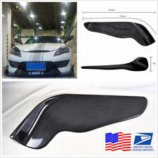 2PC 2610 Models Carbon Fiber Front Protector Bumper Splitters For Car Trunk