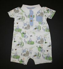 New Gymboree Peter Rabbit Line One Piece Polo Romper Size 12-18 Months NWT