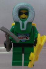 LEGO: MINIFIG: ARCTIC: Arctic - Green, Green Hood, Backpack
