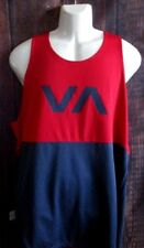e425bfb86d838 MENS RVCA BLUE RED MESH REVERSIBLE TANK TOP T-SHIRT SIZE XL
