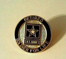 Retired Soldier For Life Regulation Lapel Pin Made in Usa