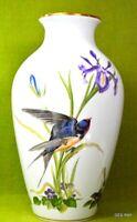 Franklin Porcelain Vase Meadowland BIrd Basil Ede Limited 1980 Edition