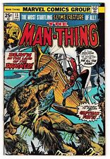 MAN-THING #13 (FN+) 1st CAPTAIN FATE! Classic Bronze-Age Marvel Comic 1975