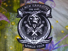 BLACK Sabbath Back Patch the end MEGA RAR Ozzy forma PATCH RICAMATI