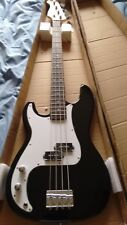 NEW Left Handed 3/4 Size Electric Bass Guitar Black