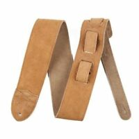 "Genuine Fender 2.5"" Wide, ""F"" Suede Adjustable Guitar Strap - Tan"
