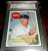 1969 Topps⭐️⭐️Mickey Mantle⭐️⭐️ Yankees #500 YL PSA 6 EXMT RARE! CENTERING⭐️⭐️