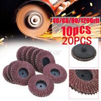 20 x Flap Disc 115mm Angle Grinder Sanding Disc 40/60/80/120 Grit Grinder Wheel
