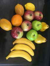 Faux Fake Fruit 15 Pieces Apple Banana Lemon Pear Orange Display