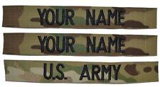 SEW-ON 3 Piece Multicam Scorpion Name Tape Set (SEW-ON) - U.S. Army Military