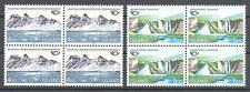 Iceland 1983 Sc# 571-72 set Nordic cooperation Mounts blocks 4 MNH