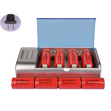 8x C Size 10000mAh 1.2V Red Rechargeable Battery Cell + AA AAA 9V C D Charger