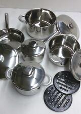 Batteria di pentole Bavaria in acciaio inox 12 pezzi cucina dietetica e informe.