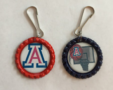 Handmade Arizona Wildcats Zipper Pull Set of 2