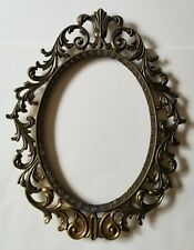 Vintage Oval Picture Frame - Ornate Brass - Made in Italy
