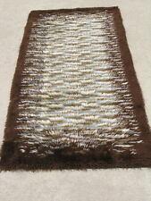"Vintage Retro Eames Period Hand Woven Rya Rug Shag Rug Tapestry 35x76"""