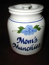 Clay Design MOM'S MUNCHIES Cookie Jar w Blue Flower