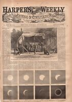 1869 Harpers Weekly August 28 - Bowling; Union Pacific RR;Telescopes;Shelbyville