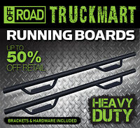17-21 Fit Chevy Colorado Crew Cab Blk Hoop Step OFF ROAD Nerf Bar Running Boards
