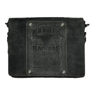 Jack's Inn 54 Ladykiller Tasche schwarz Echt Leder Vintage Schultertasche