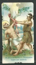 Holy card antique de San Bartolome Apostol estampa santino image pieuse