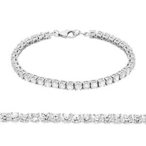 Sterling Silver Diamanté Cubic Zirconia Tennis Bracelet
