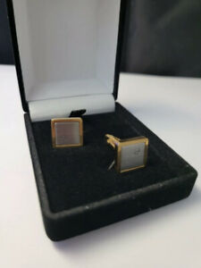 Vintage Dunhill Cufflinks, stainless Steel and gold plated
