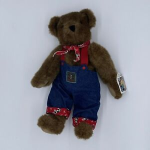 """NWT Vermont 16"""" Teddy Bear Overalls Bandana Made In the USA"""