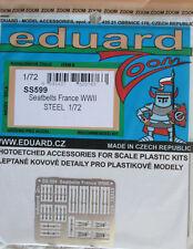 Eduard 1/72 Couleur SS599 Acier Etch WW2 FRENCH AIRCRAFT ceintures