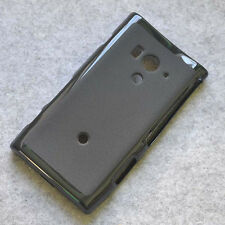 For Sony Xperia Acros S/HD SO_03D LT26w Black TPU Matte Gel skin case cover