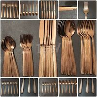 30 Piece Cutlery Set Copper/Rose Gold Mirror Polished 18/10 SLEEK AND STYLISH