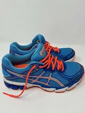 Women's ASICS GT-1000 Size 6.5 WIDE Blue / Silver / Pink Running Shoes T3R5Q