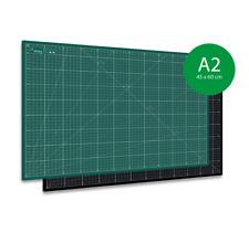 Schneidematte, Schneideunterlage PRO Line A2 (45x60cm) 2-seitig bedruckt Grün au