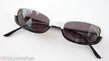 Na und Damen Sonnenbrille weiß schwarz ausgefallen auffällig GR:M schmal NEU