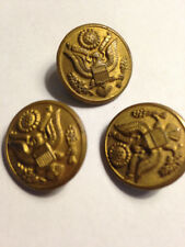 MILITARY BUTTONS-3 MEDIUM SIZE SCOVILL MFG CO WATERBURY CONN
