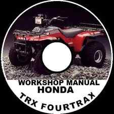 HONDA TRX 125 250 300 350 450 500 FOURTRAK QUAD ATV WORKSHOP MANUAL  CD