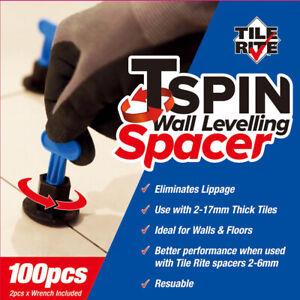 Tile Leveling System Reusable 100 Pieces Tile Leveler Tile Leveling Spacer TSPIN