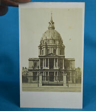 1870s French CDV Dome Des Invalides Carte De Visite Paris France NR